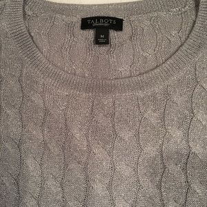 🎀Talbots Silver Thread Cable Sweater